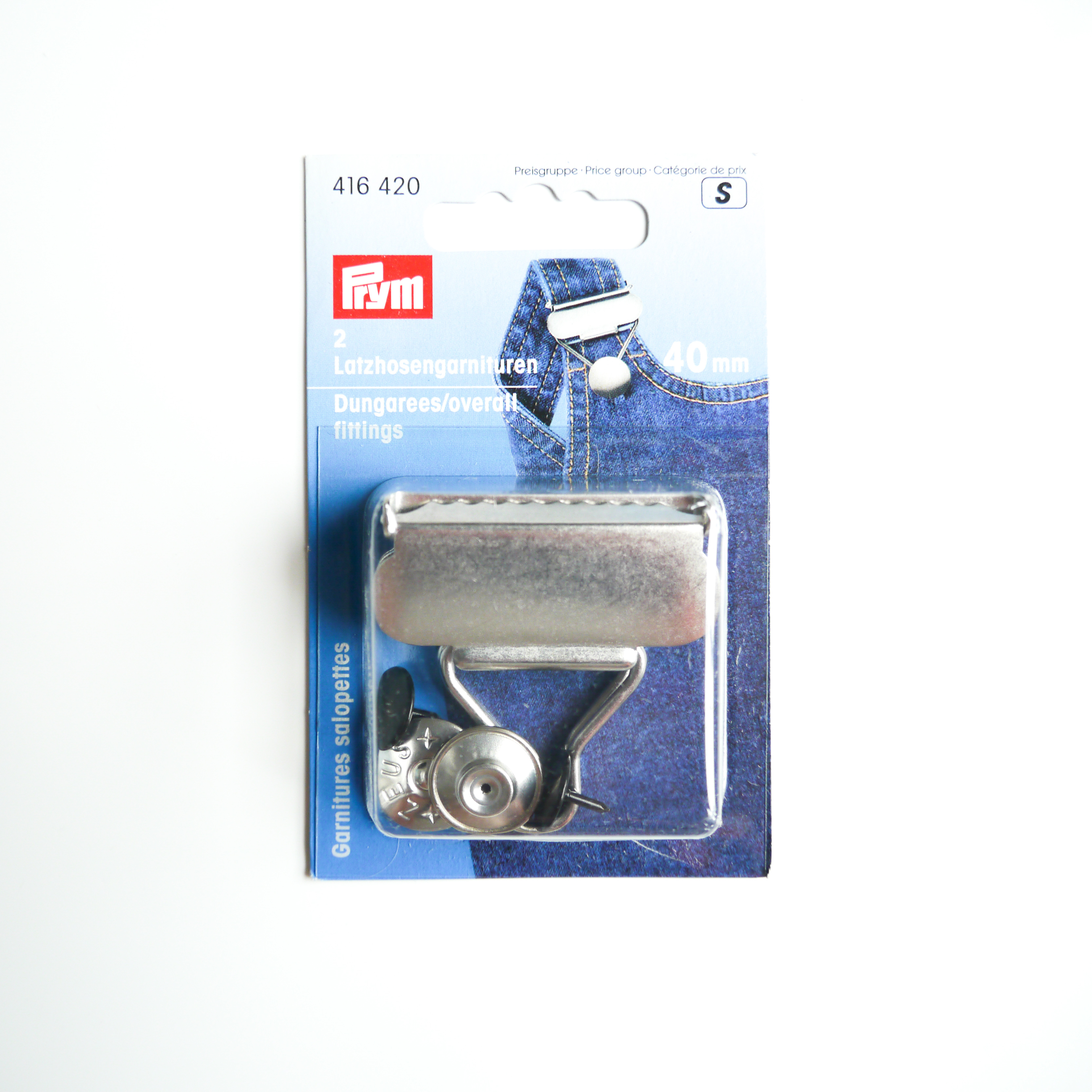 Prym 40 mm Dungarees//Overall Fittings Silver Prym